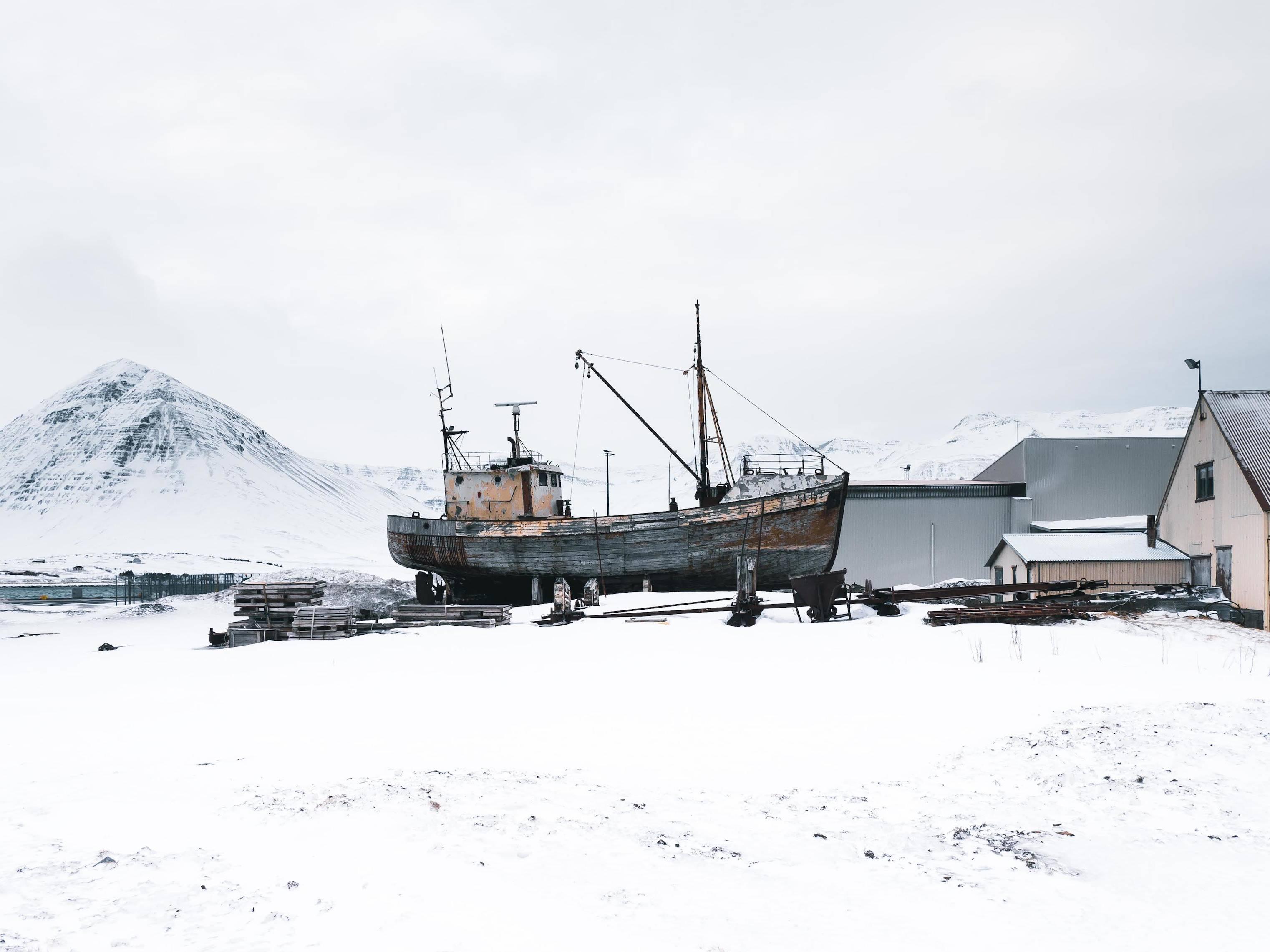 Fisherman's boat in Siglufjörður.